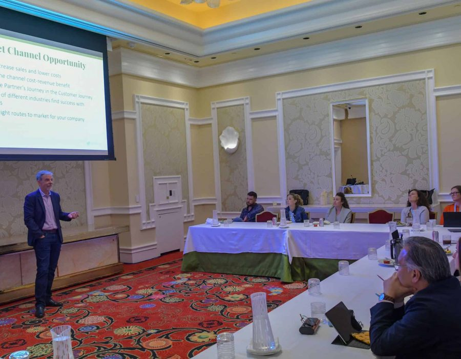 During a work group session, Larry Walsh of The 2112 Group shared best practices for getting products to market through indirect channels.