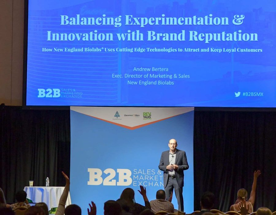 Our closing keynote featured a fascinating case study led by Andrew Bertera about how New England BioLabs uses cutting-edge technologies to attract and keep loyal customers.